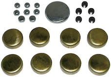 Proform 66557 Brass Freeze Plug Kit; For Chrysler 318-360 Engines; All Sizes Needed Included