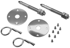 Proform 66649 Hood Pin Kit; Stainless; 2 Pin, Scuff Plates; Safety Pins and Hardware Included