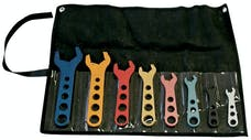 Proform 66978 Aluminum AN Wrench Set; 8 Pieces; Includes Size -3AN thru -20AN; Sold as One Set