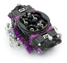 Proform 67301 Black Race Series Carburetor; 650 CFM, Mechanical Secondary, Black & Purple