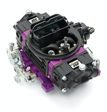 Proform 67312 Black Street Series Carburetor; 650 CFM, Mechanical Secondary, Black & Purple