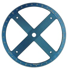 Proform 67490 Camshaft Degree Wheel; Pro Model; 16 Inch Diameter; Blue Anodized; White Numbers