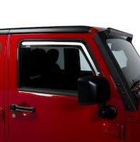 Putco 580228 JEEP WRANGLER JK ELEMENT TINTED WINDOW VISORS - FRONT ONLY