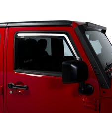 Putco 580228 JEEP WRANGLER JK-ELEMENT TINTED WINDOW VISORS - FRONT ONLY