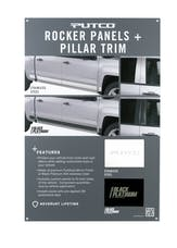 Putco 97555D Rocker Panel/Pillar Trim POP Display