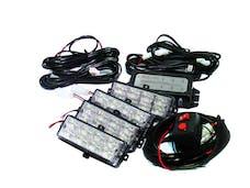 Race Sport Lighting RS-281-4LED-R LED Grille Strobe Light Kit (Red)
