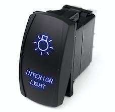 Race Sport Lighting RSLJ57B LED Rocker Switch w/Blue LED Radiance - Interior Lights