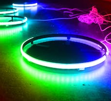 "Race Sport Lighting RSRGB15 Race Sport ColorADAPT 15.5"" LED Wheel Kit in RGB Multicolor"