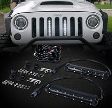 Race Sport Lighting RS2LJK High Power LED Grille kit with (2) LED Light Bars -