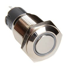 Race Sport Lighting RS-16MM-LEDW LED Momentary Switch (White)