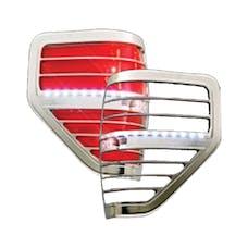 Race Sport Lighting RS-0913FORD1-TLB LED Taillight Bezel Chrome