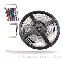Race Sport Lighting RS-16FT-5050-RGB 16ft (5M) 20-Color RGB LED Strip w/ Remote
