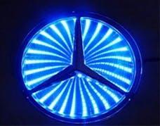 Race Sport Lighting RS-3DLED-BENZ-B 3D LED Logo Badge (Mercedes-Blue)