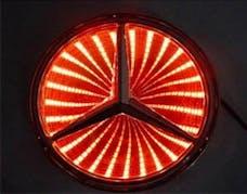Race Sport Lighting RS-3DLED-BENZ-R 3D LED Logo Badge (Mercedes-Red)