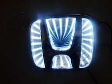 Race Sport Lighting RS-3DLED-HON-W 3D LED Logo Badge (Honda-White)