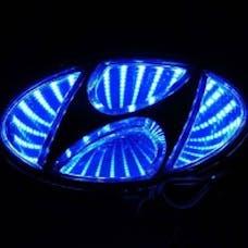 Race Sport Lighting RS-3DLED-HYUN-B 3D LED Logo Badge (Hyundai-Blue)