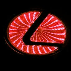 Race Sport Lighting RS-3DLED-LEX-R 3D LED Logo Badge (Lexus-Red)