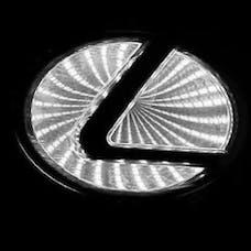 Race Sport Lighting RS-3DLED-LEX-W 3D LED Logo Badge (Lexus-White)