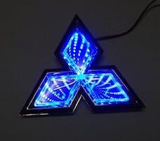 Race Sport Lighting RS-3DLED-MIT-B 3D LED Logo Badge (Mitsubishi-Blue)