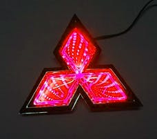 Race Sport Lighting RS-3DLED-MIT-R 3D LED Logo Badge (Mitsubishi-Red)