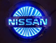 Race Sport Lighting RS-3DLED-NIS-B 3D LED Logo Badge (Nissan-Blue)