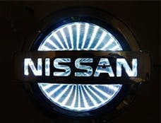 Race Sport Lighting RS-3DLED-NIS-W 3D LED Logo Badge (Nissan-White)