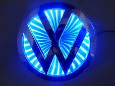 Race Sport Lighting RS-3DLED-VW-B 3D LED Logo Badge (Volkswagen-Blue)