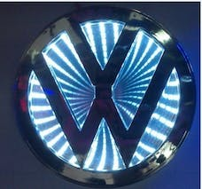 Race Sport Lighting RS-3DLED-VW-W 3D LED Logo Badge (Volkswagen-White)