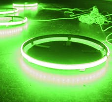 "Race Sport Lighting RS15G Race Sport CLEAR COLOR 15.5"" LED Wheel Kit in GREEN"