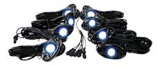 Race Sport Lighting RSLD8KITB 8 LED Glow Pod Kit with Brain Box IP68 12V with All Hardware
