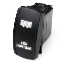 Race Sport Lighting RSLE21W LED Rocker Switch w/White LED Radiance - LED Light Bar