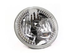 """Race Sport Lighting RS7RH4LED-W 7"""" Diamond Cut H4 Conversion lens with Recessed LED HALO -White (Each)"""