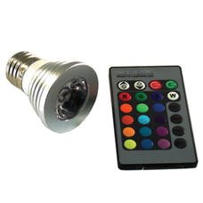 Race Sport Lighting RS-RGB-110V-E27(3W) 3W E27 LED Light Bulb with Remote - RGB