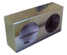Race Sport Lighting RS-503-2SS 4 Double Round Polished Stainless Steel Light Box with knockouts