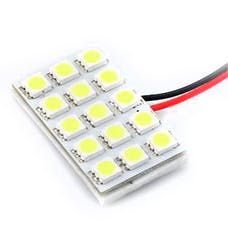 Race Sport Lighting RS-5050-15DOME-R 15 Chip LED Dome Panel (Red)