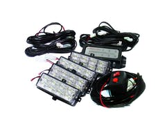 Race Sport Lighting RS-281-4LED-WA L.E.D Grill Strobe Light Kit - White/Amber (Comes with 2-Amber and 2-White)