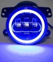 Race Sport Lighting RS-4FHALOB Jeep Wrangler JK 4