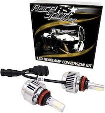 Race Sport Lighting H4LED3S H4 3-Sided Driverless LED Headlight Kit - 2,000LUX w/ OEM Kelvin Color