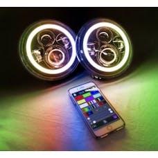 "Race Sport Lighting RS7RGBH2 7"" LED Projector Kit 4x10Watt with ColorSMART RGB Multi-Color Halo"