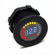 Race Sport Lighting RS50798 12V DC Voltmeter Socket Input DC 12V Output