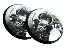 "Race Sport Lighting RS7LEDHLPCHROME-PR (2) 7"" Chrome LED Projector Conversion Kit 4x10Watt- Plug N Play H4 H/L"