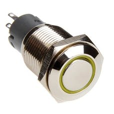 Race Sport Lighting RS-2P16MM-LEDY LED Two Position on/off Switch Yellow