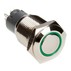 Race Sport Lighting RS-16MM-LEDG LED Momentary Switch (Green)