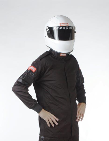 Racequip 111006 SFI-1 Pyrovatex Single-Layer Racing Fire Jacket (Black, X-Large)