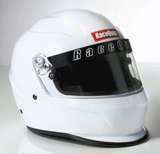 Racequip 273113 Pro15 Full Face Snell Race Helmet (Gloss White, Medium)