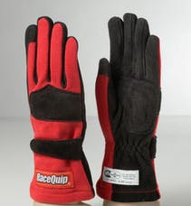 Racequip 355016 SFI-5 Double-Layer Racing Gloves (Red, X-Large)