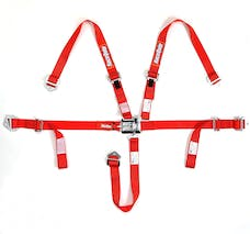 Racequip 709019 SFI 16.2 JR Dragster & Quarter Midget 5-Point Youth Racing Harness Set (Red)