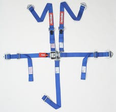 Racequip 709029 SFI 16.2 JR Dragster & Quarter Midget 5-Point Youth Racing Harness Set (Blue)