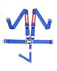 Racequip 711021 SFI 16.1 Latch & Link 5-Point Racing Harness Set (Blue)