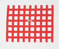 "Racequip 721015 Non-SFI Ribbon-Style Race Car Window Net (Red, 18""x24"")"